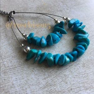 Jewelry - Delicate Turquoise + Sterling Silver Boho Necklace